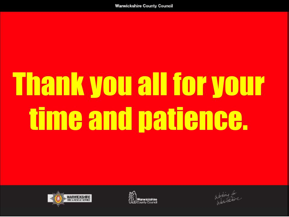 Thank you all for your time and patience.