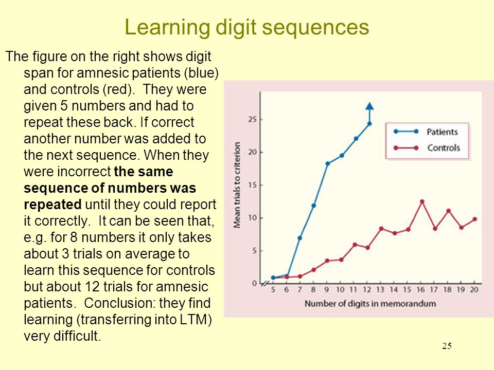 Learning digit sequences