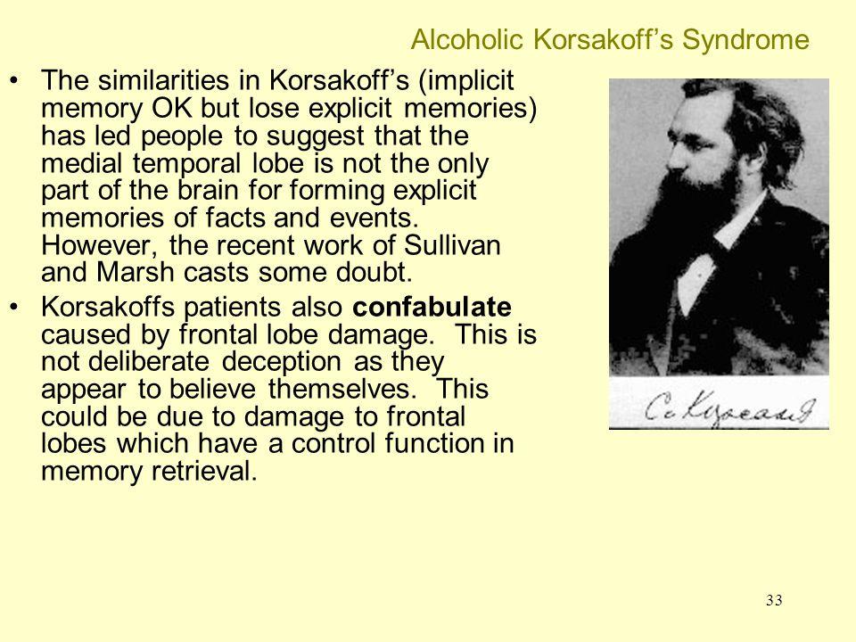 Alcoholic Korsakoff's Syndrome
