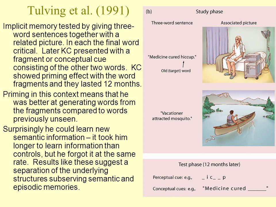 Tulving et al. (1991)