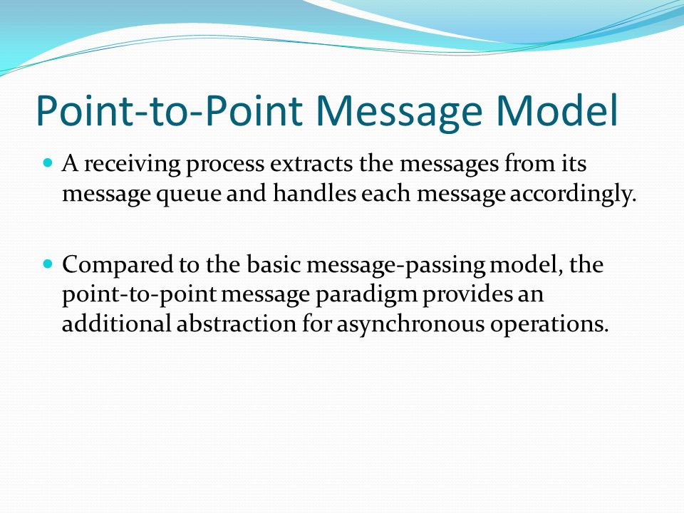 Point-to-Point Message Model