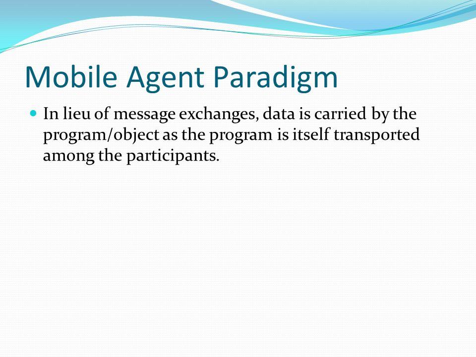 Mobile Agent Paradigm