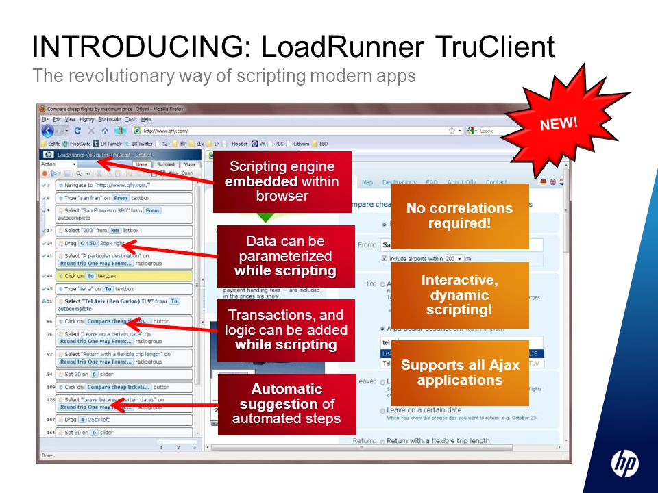 INTRODUCING: LoadRunner TruClient