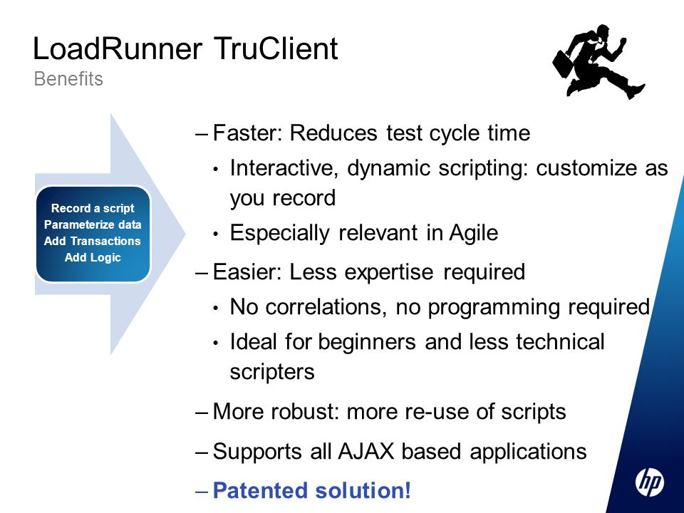 LoadRunner TruClient Faster: Reduces test cycle time
