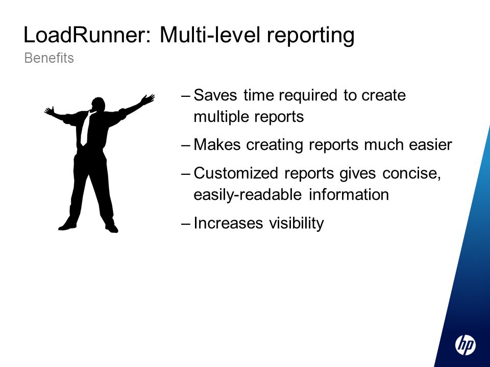 LoadRunner: Multi-level reporting