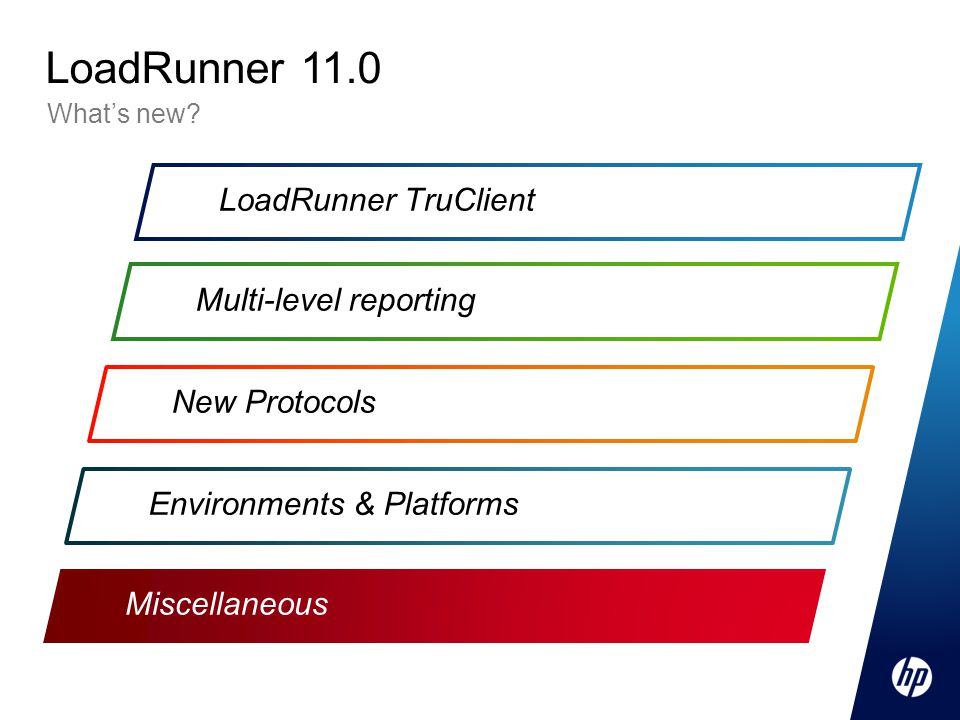 LoadRunner 11.0 LoadRunner TruClient Multi-level reporting