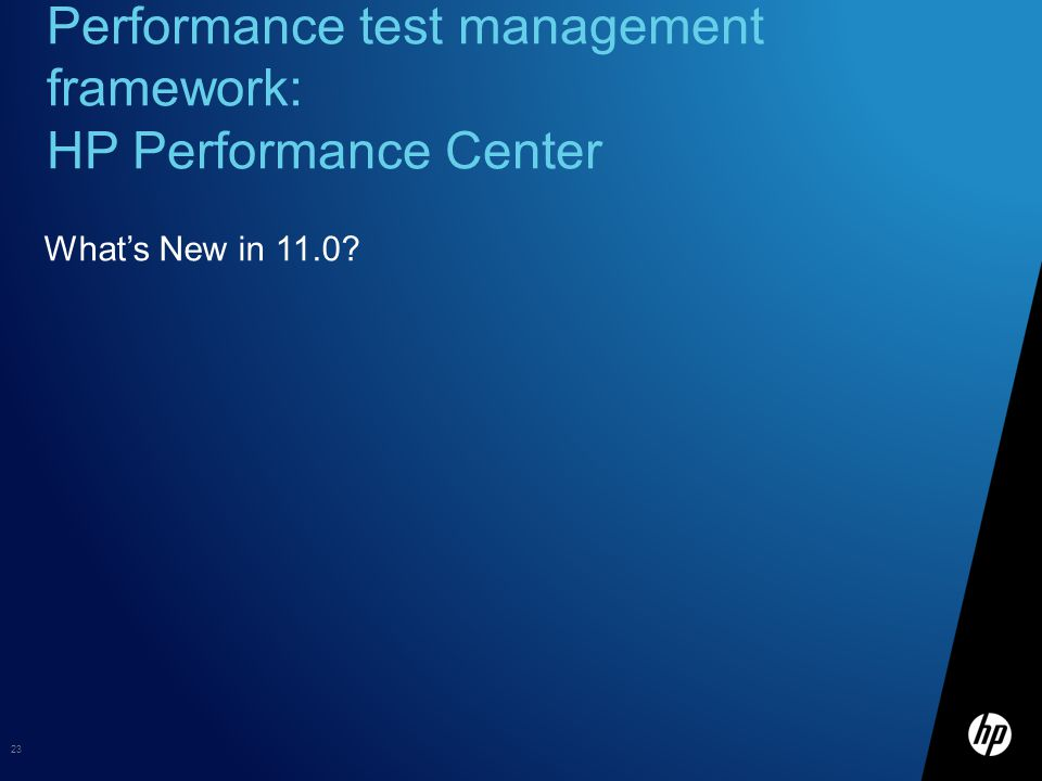Performance test management framework: HP Performance Center