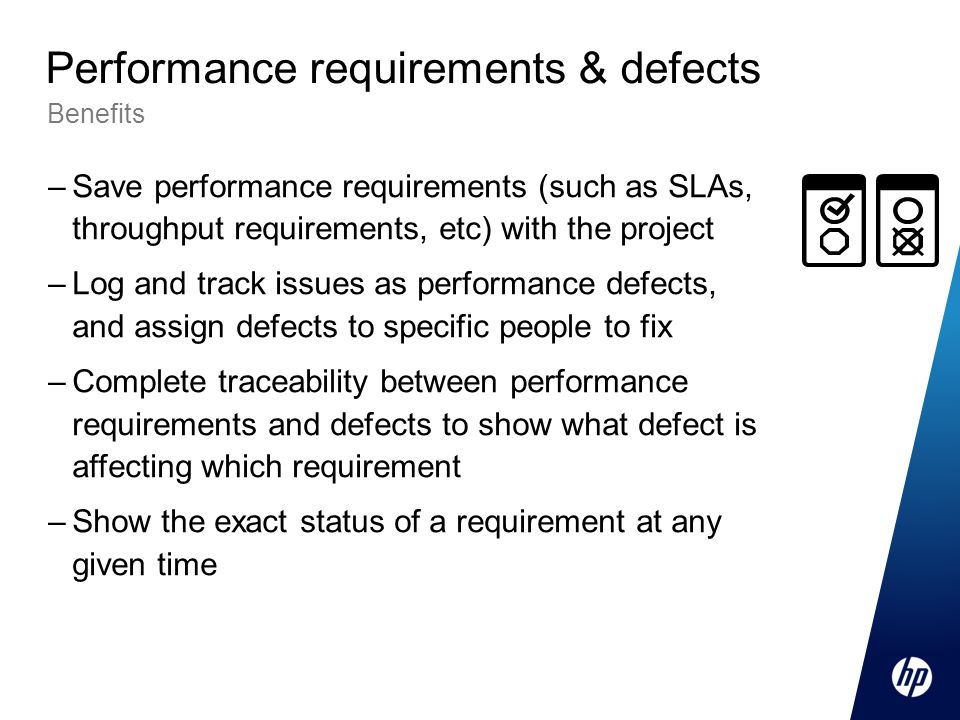 Performance requirements & defects