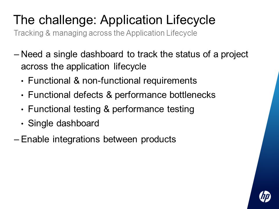The challenge: Application Lifecycle