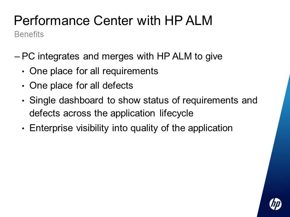 Performance Center with HP ALM