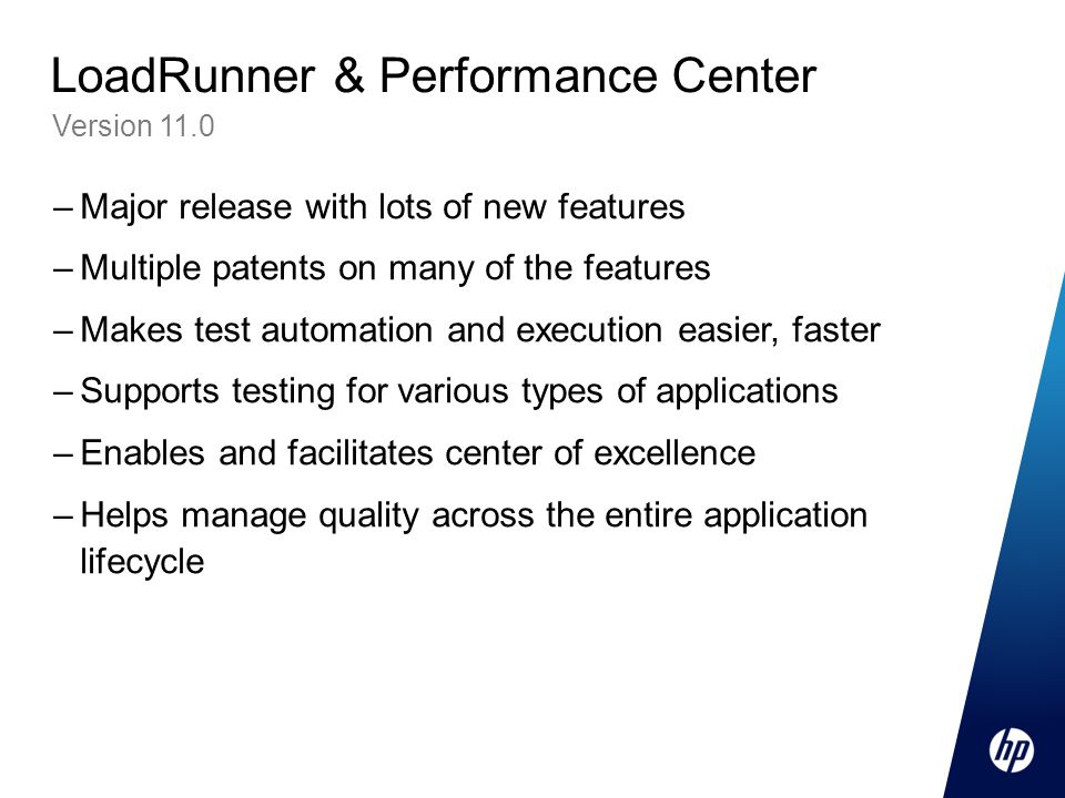 LoadRunner & Performance Center