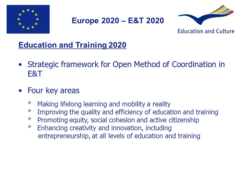 Education and Training 2020