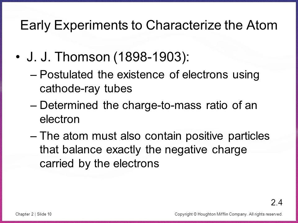 Early Experiments to Characterize the Atom