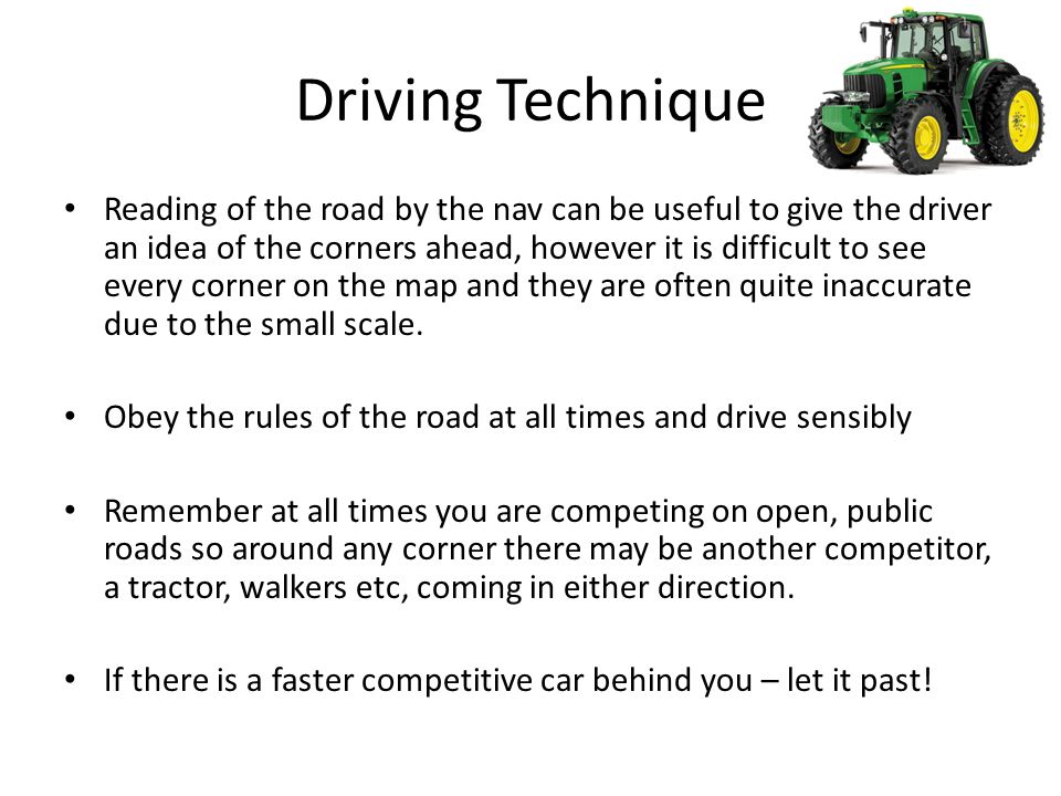 Driving Technique