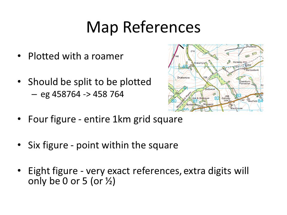 Map References Plotted with a roamer Should be split to be plotted