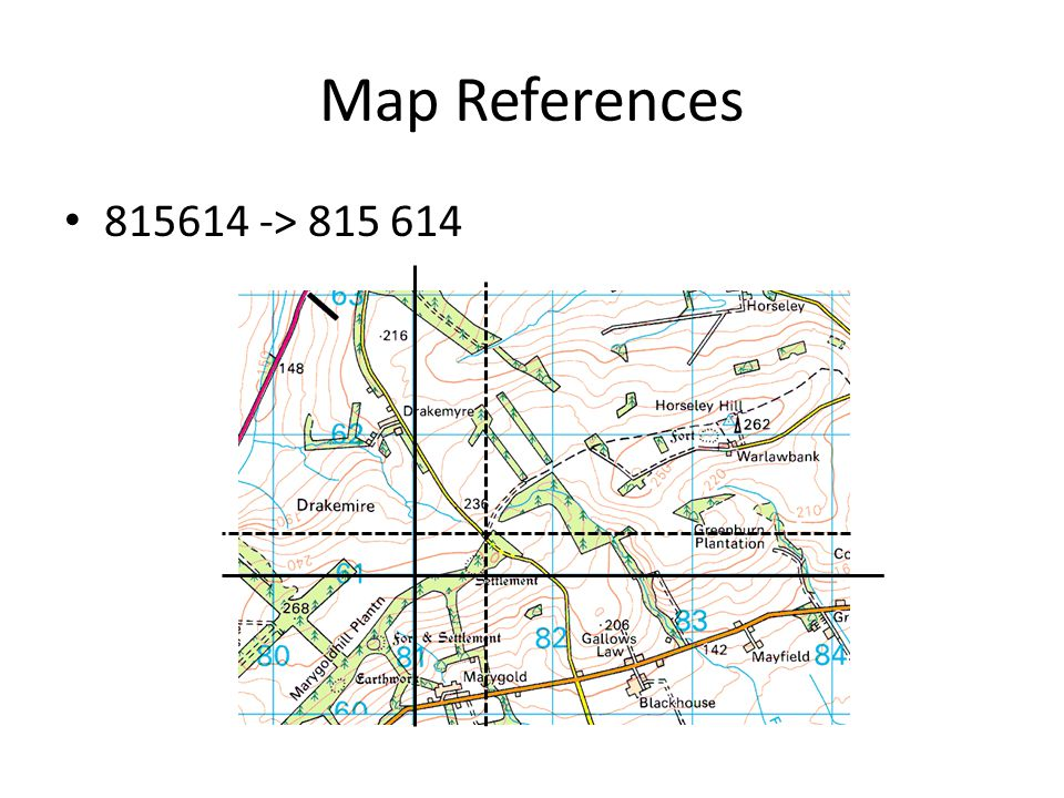 Map References 815614 -> 815 614