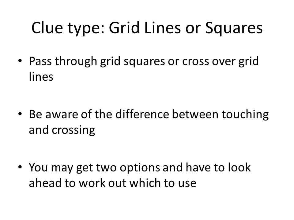 Clue type: Grid Lines or Squares