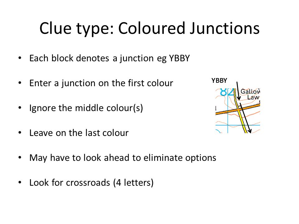 Clue type: Coloured Junctions