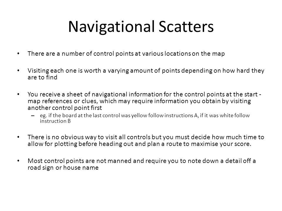 Navigational Scatters