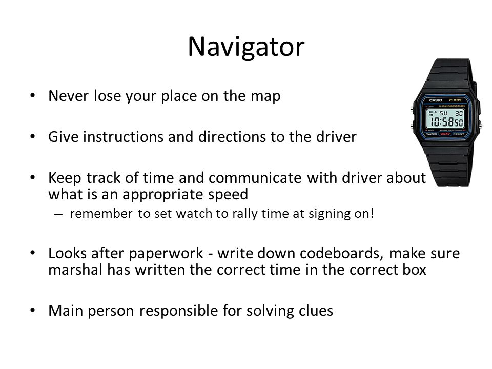 Navigator Never lose your place on the map