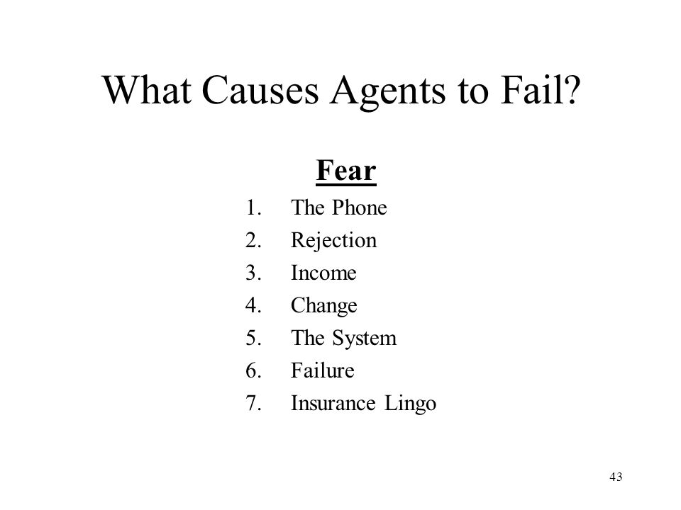 What Causes Agents to Fail