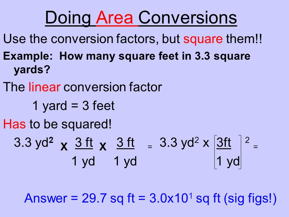 Doing Area Conversions