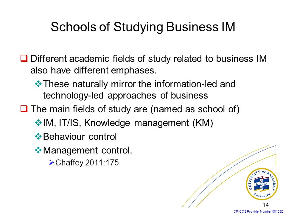Schools of Studying Business IM