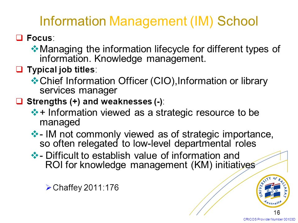 Information Management (IM) School