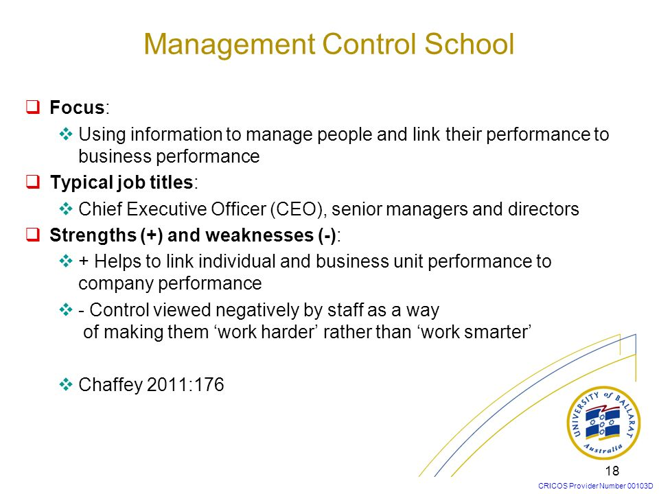 Management Control School