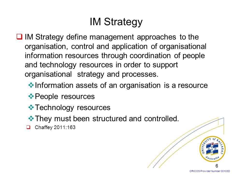 IM Strategy
