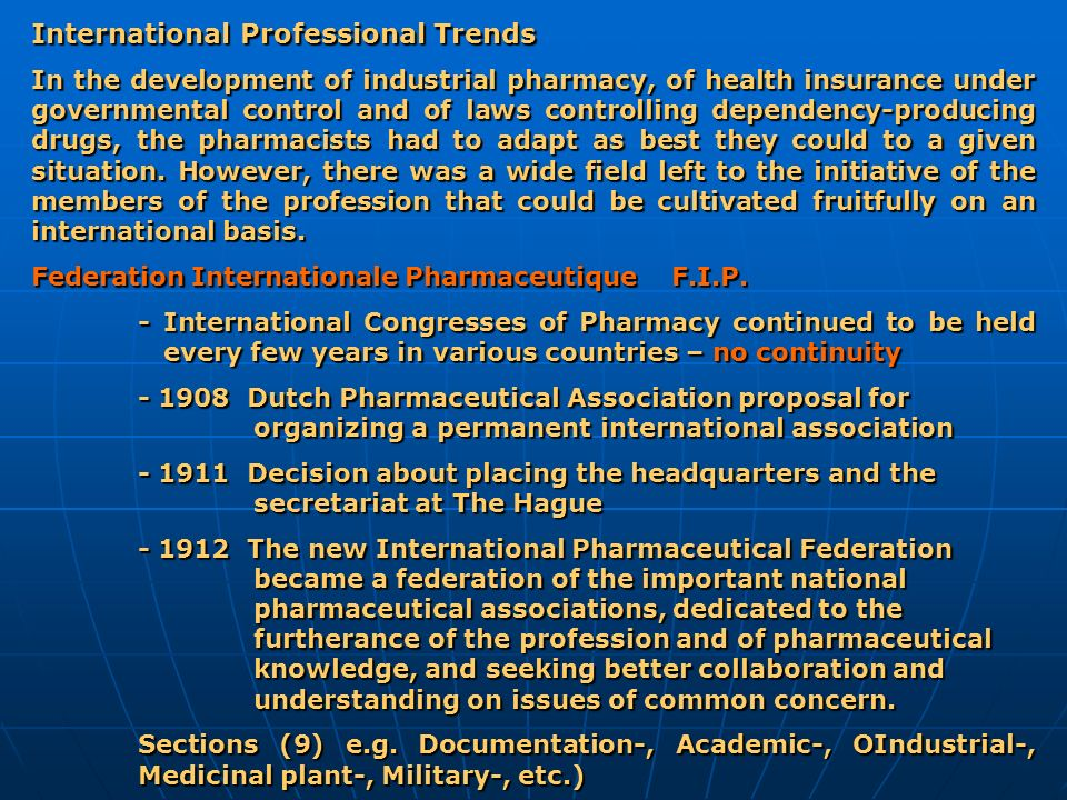 International Professional Trends