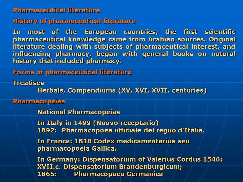 Pharmaceutical literature