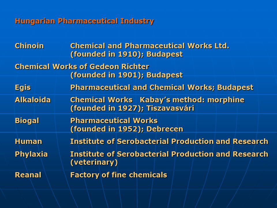 Hungarian Pharmaceutical Industry