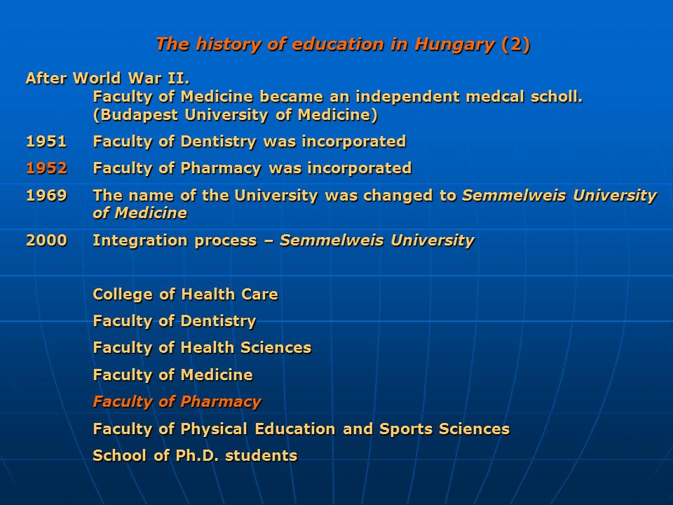 The history of education in Hungary (2)