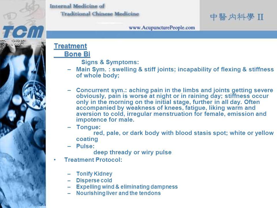 Treatment Bone Bi Signs & Symptoms: