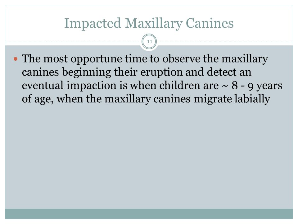 Impacted Maxillary Canines