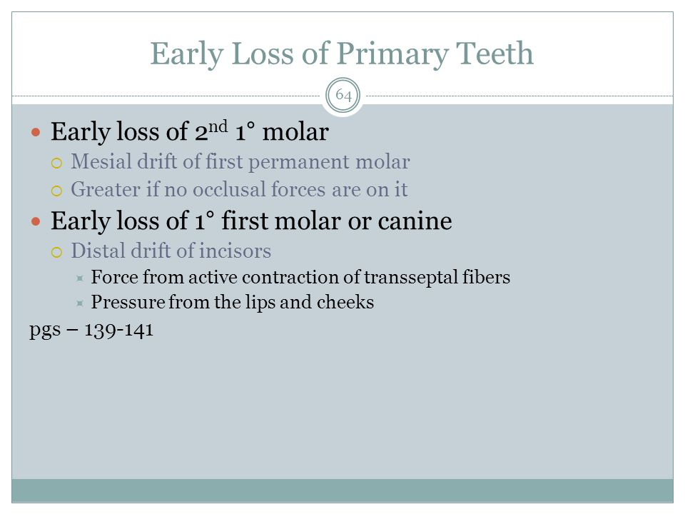 Early Loss of Primary Teeth