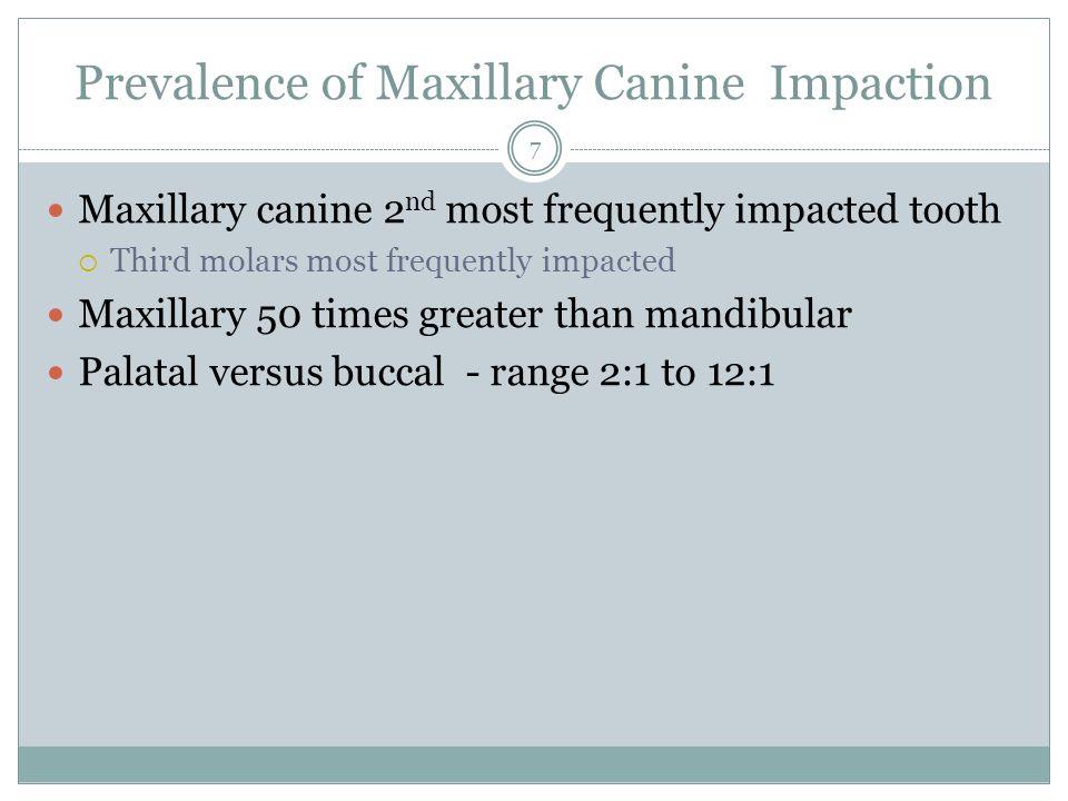 Prevalence of Maxillary Canine Impaction