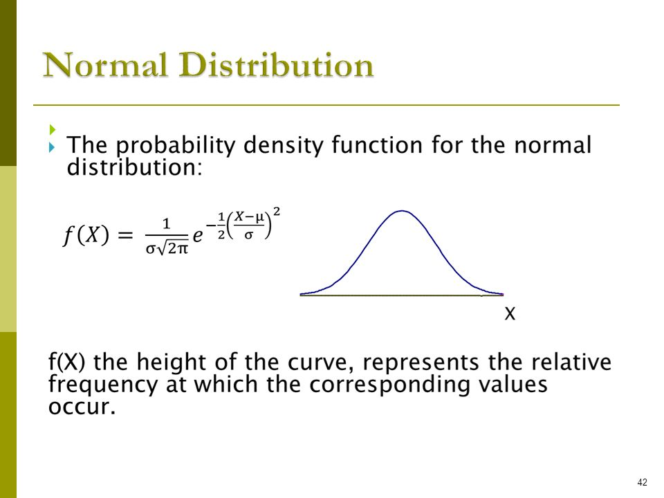 Normal Distribution 42 42