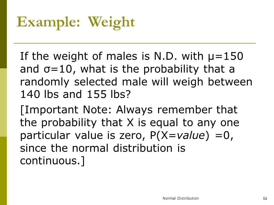 Example: Weight