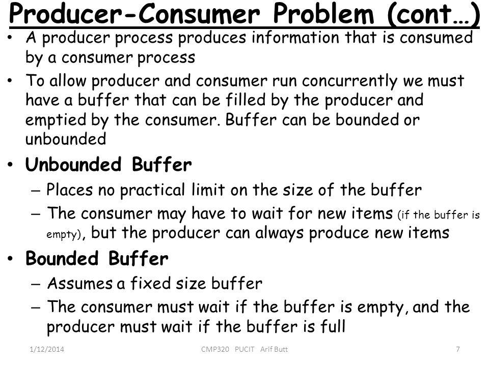 Producer-Consumer Problem (cont…)