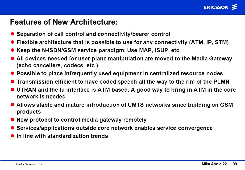 Features of New Architecture: