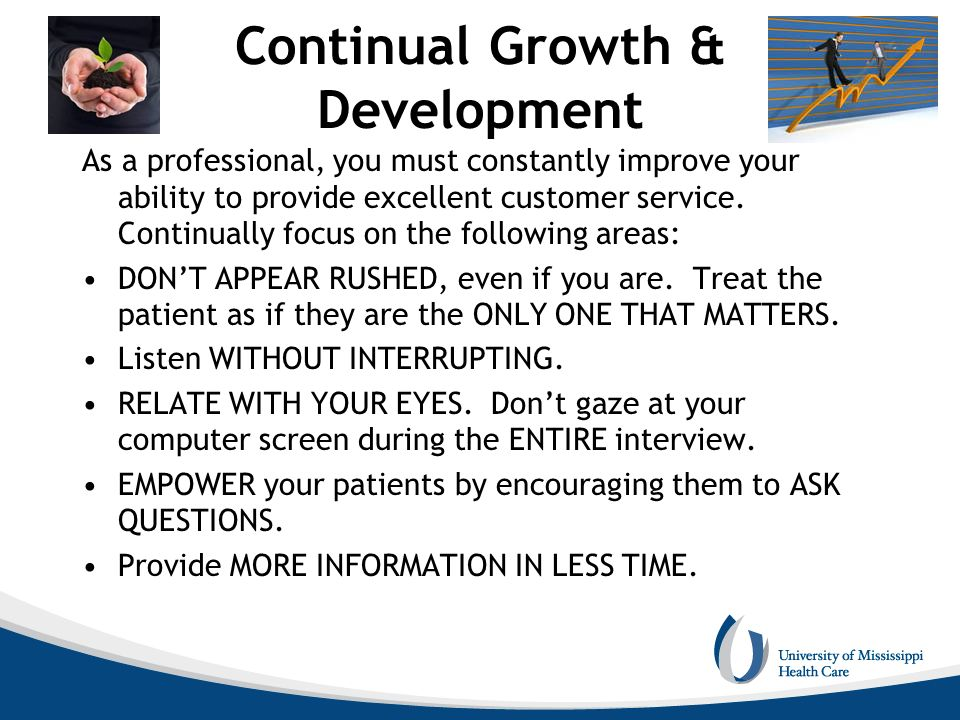 Continual Growth & Development