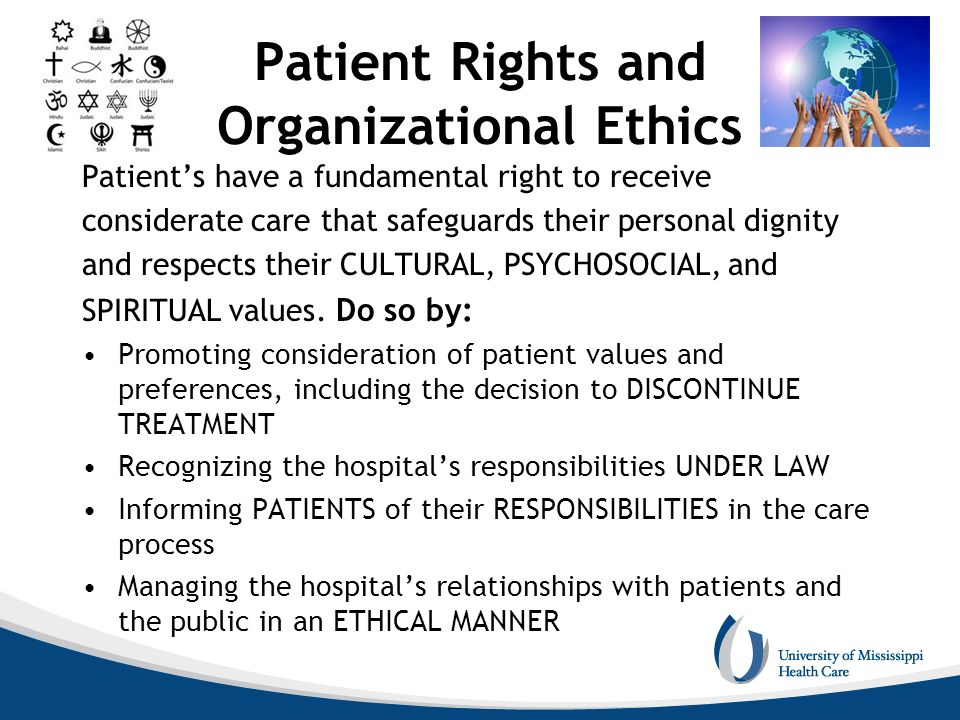 Patient Rights and Organizational Ethics