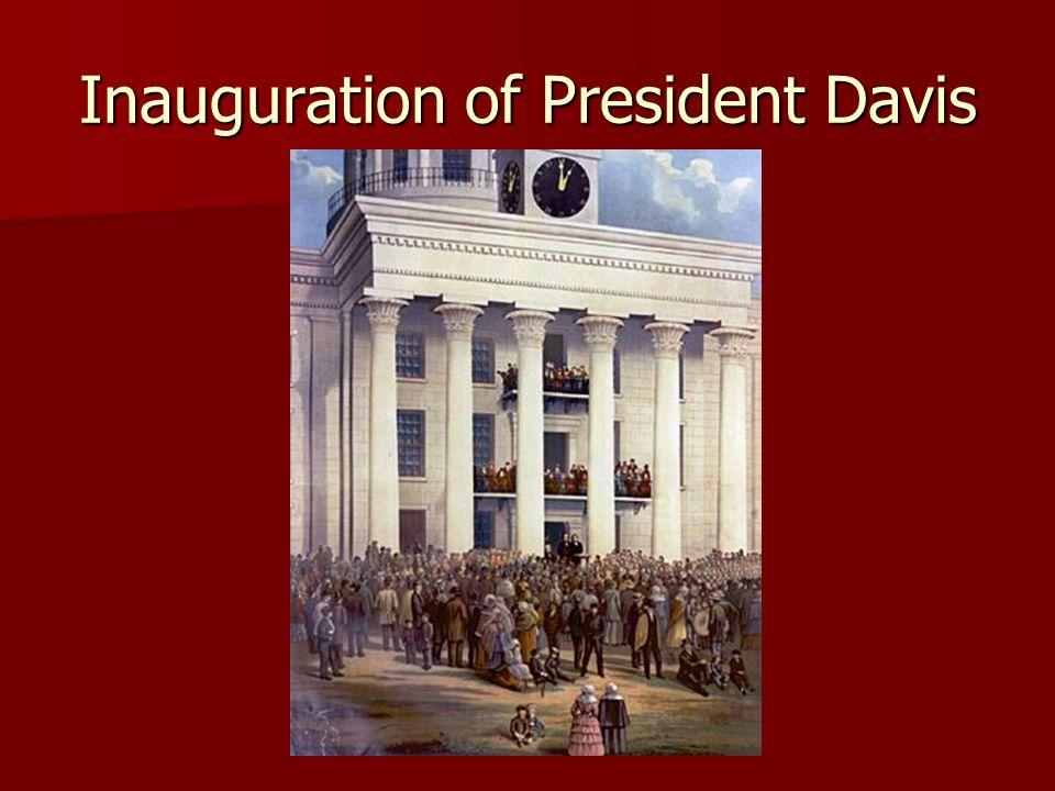 Inauguration of President Davis