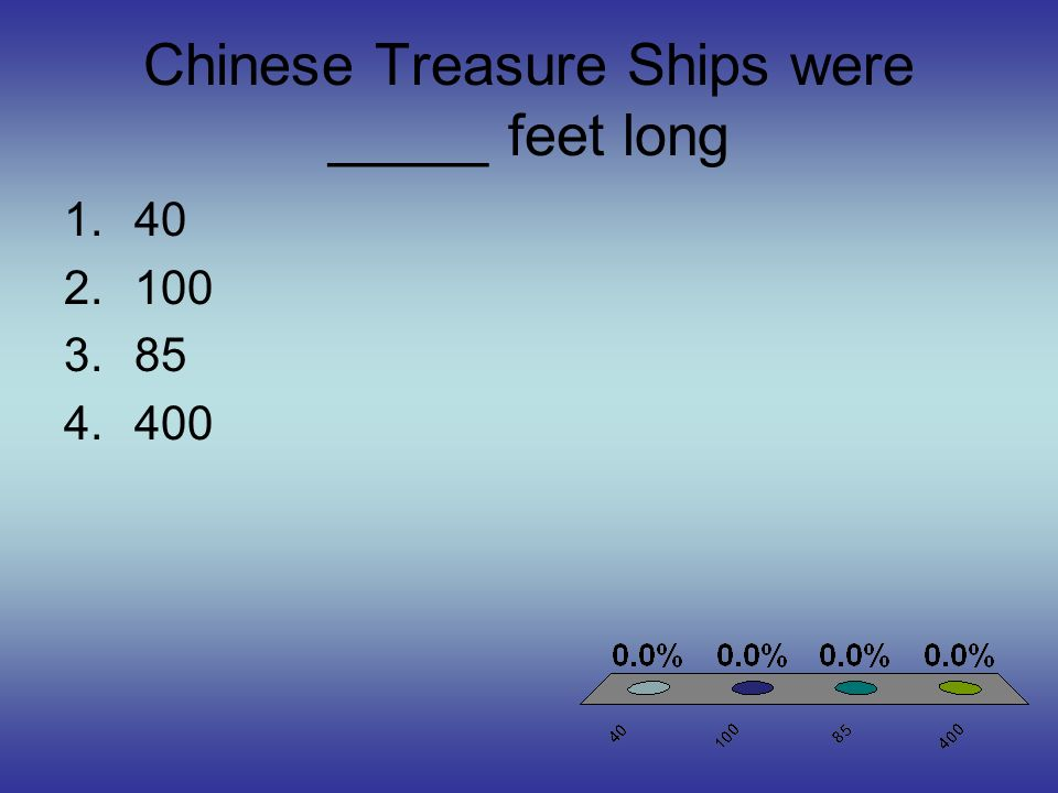 Chinese Treasure Ships were _____ feet long