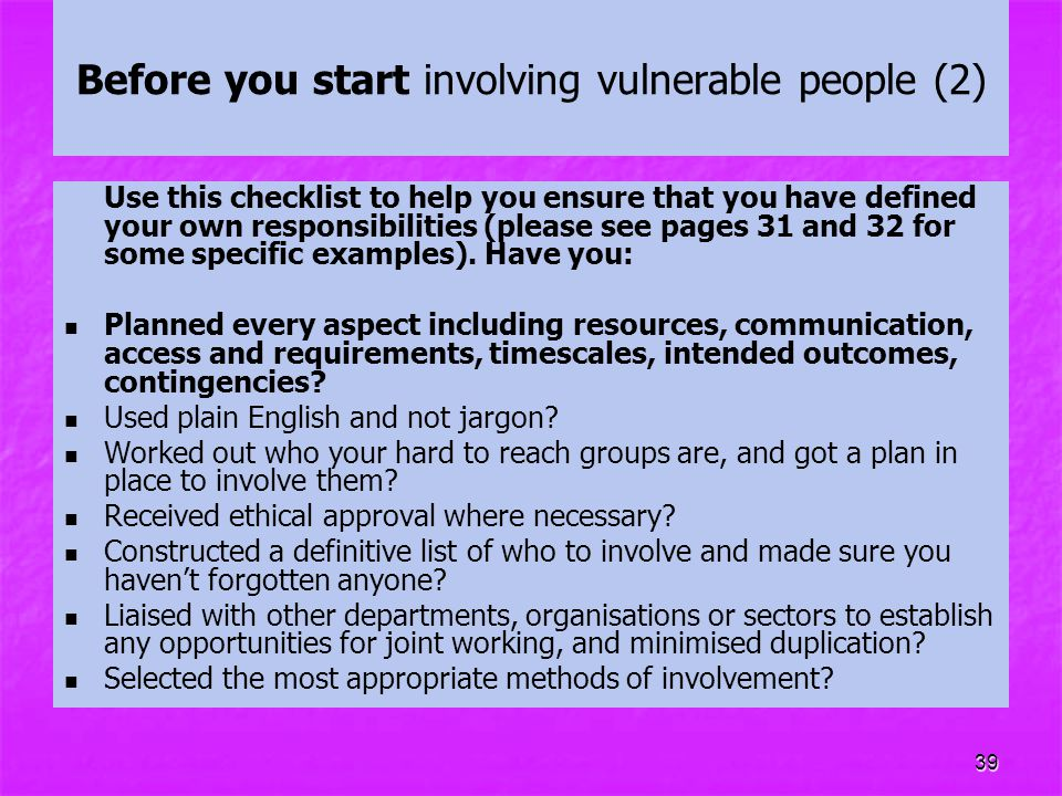 Before you start involving vulnerable people (2)