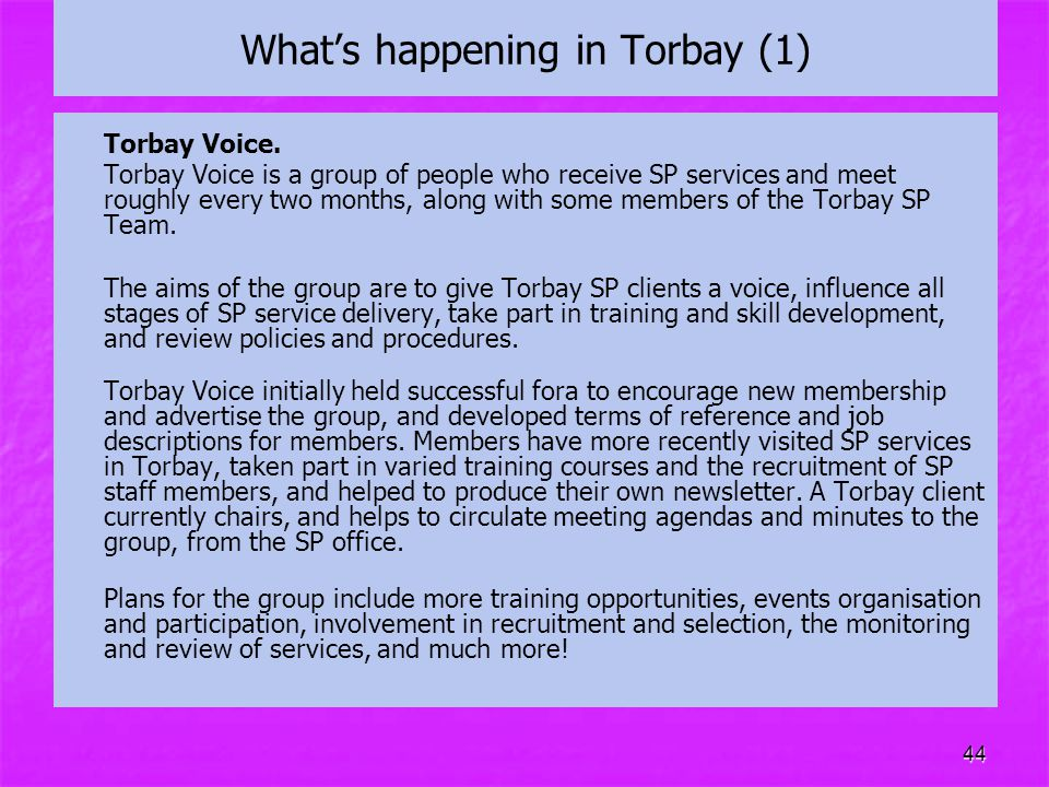 What's happening in Torbay (1)
