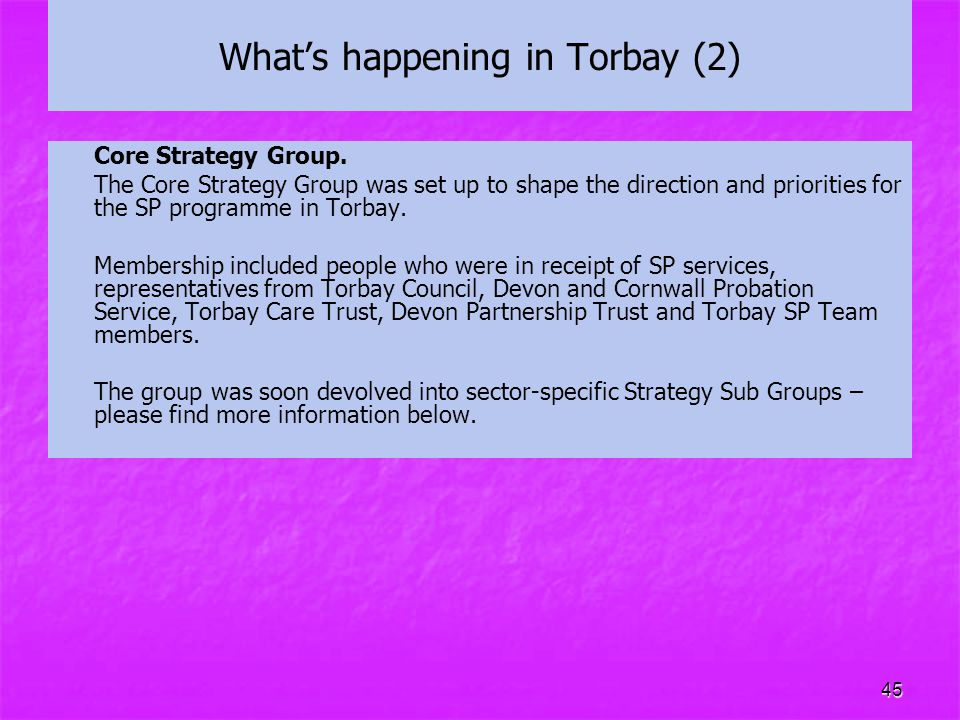 What's happening in Torbay (2)
