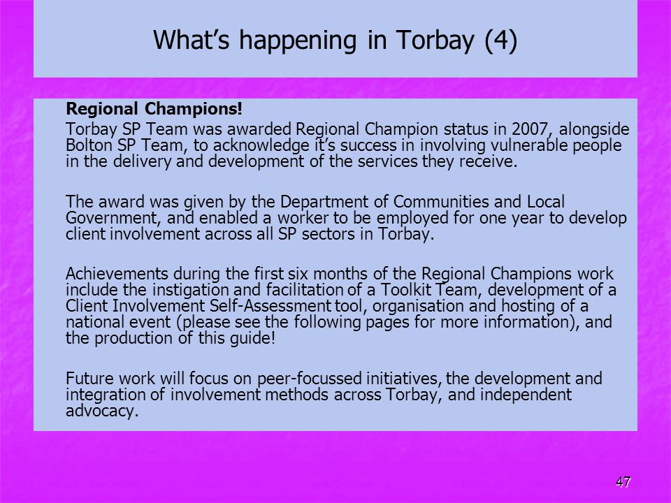 What's happening in Torbay (4)